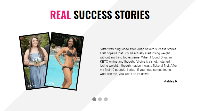 DivaTrim Keto - real stories